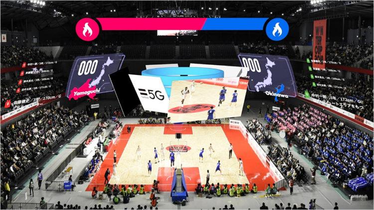高校バスケットボールウインターカップ2019でARグラスNrealLightを使った 5Gプレサービスを提供
